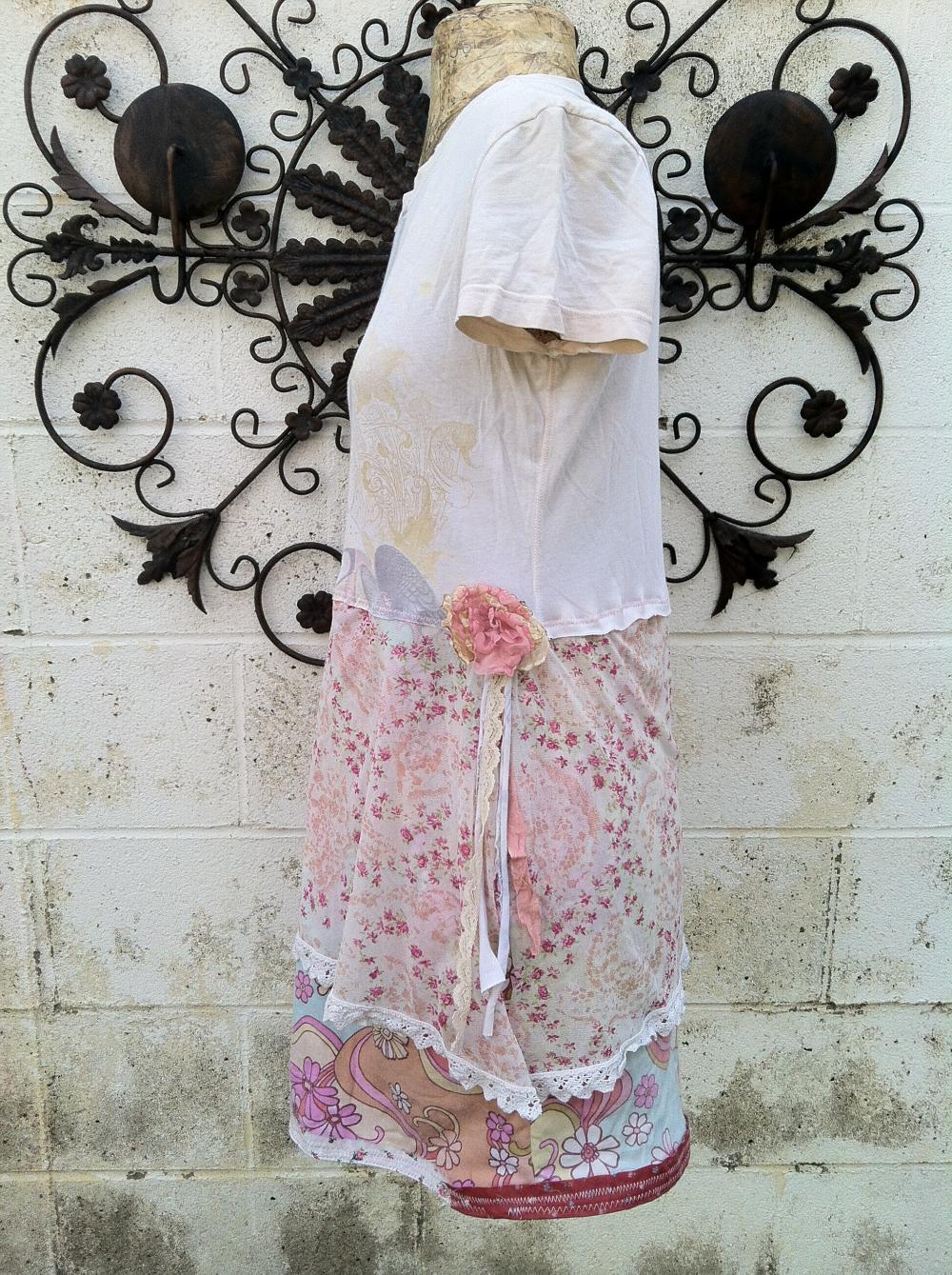 Angel Love Wearable Art Upcycled Eco Dress