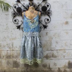 Plus Size Eco Dress Upcycled Wearable art